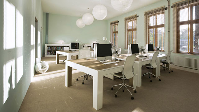 Sunlight streams inside an office space. (Image from imgarcade.com)